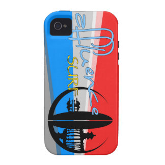 RED & SKY BLUE Ray Affluence iPhone 4 Covers