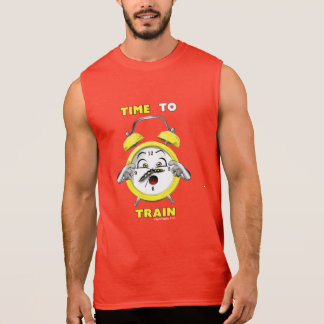 Red Sleeveless Time To Train T-shirt
