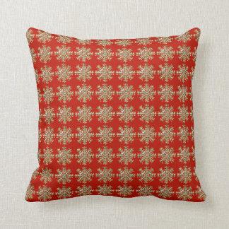 Red Snowflake Pattern Cushion
