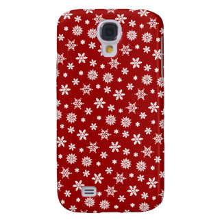 Red Snowflakes Pattern iPhone 3G/3GS Case