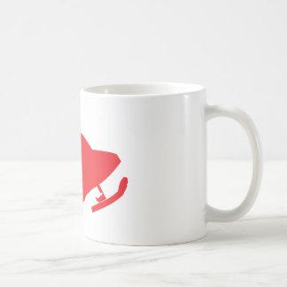 Red-Snowmobiler Coffee Mug