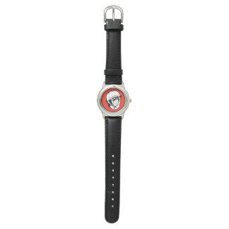 Red Soviet Cosmonaut Stainless Steel Watch