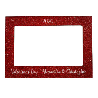 Red Sparkle and Glitter Valentine's Day Frame
