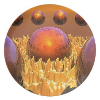 Red Spheres Plate