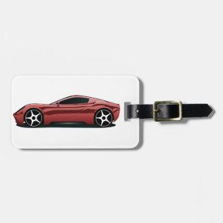 Red sport car luggage tag