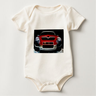 Red Sports Car Baby Bodysuit