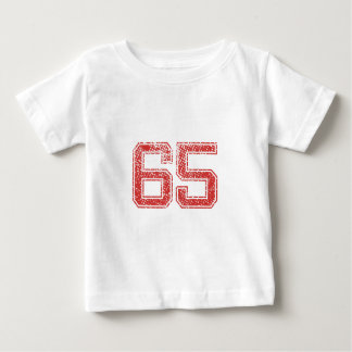 Red Sports Jerzee Number 65 Baby T-Shirt