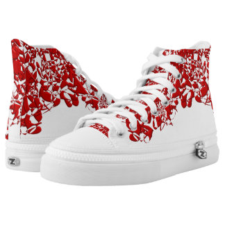 Red Squiggles Printed Shoes