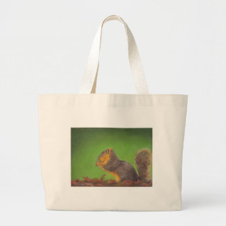 Red Squirrel Large Tote Bag