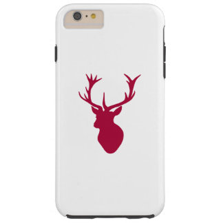 Red Stag Head Christmas or Stag Party Tough iPhone 6 Plus Case