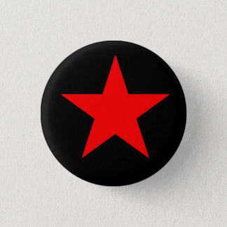 Red Star 3 Cm Round Badge