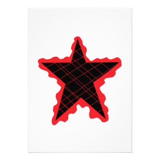 Red Star Flame Invite