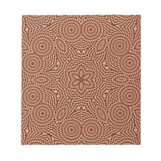 Red Star Mandala Notepad