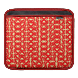 red star pattern with yellow line iPad sleeve