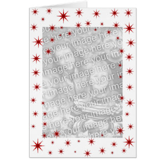 Red Starry Christmas Card