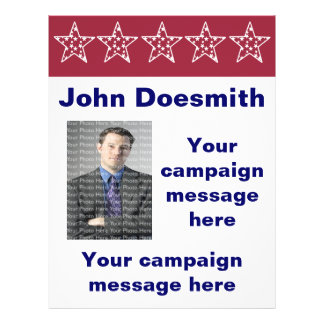 Red Stars Election Campaign Flyer Template