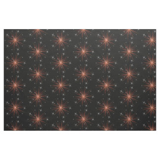 Red Stars on Black Fabric