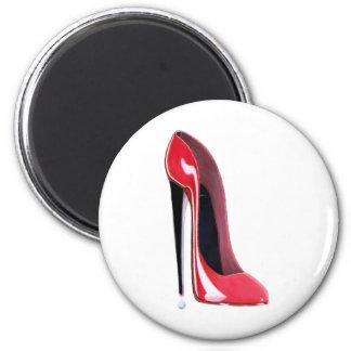 Red Stiletto High Heel Shoe Art Magnet