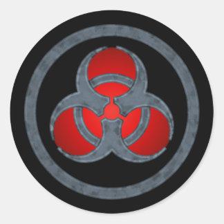 Red Stone Biohazard Sticker