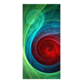 Red Storm Abstract Art Photo Card