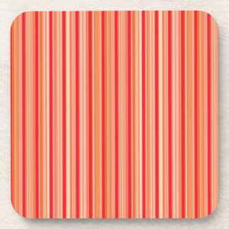 Red stripes pattern coaster