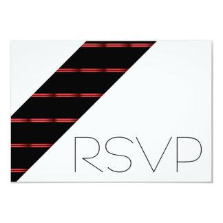 Red stripes RSVP 9 Cm X 13 Cm Invitation Card