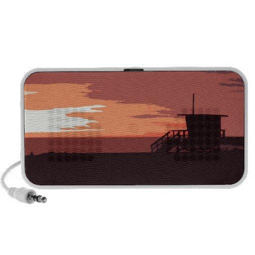 Red Sunset iPhone Speaker