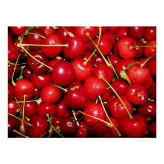 Red Sweet Cherry Poster
