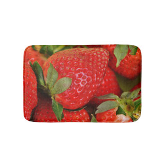 Red Sweet Strawberries Bath Mats