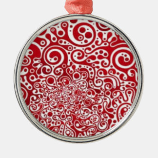 Red Swirls Christmas Ornament