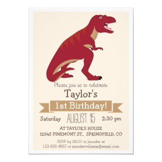 Shop Zazzle's selection of dinosaur birthday invitations for your party!