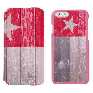 Red Texas Flag Painted Old Wood Incipio Watson™ iPhone 6 Wallet Case