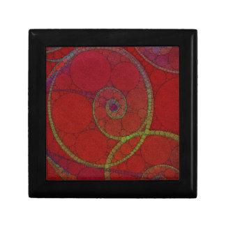 Red Textured Circle Pattern Gift Box