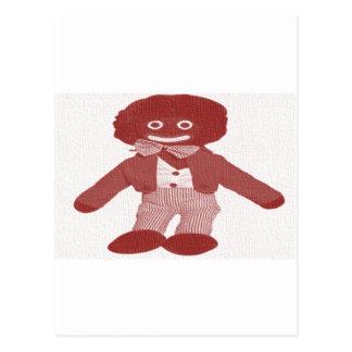 Red Tinged Vintage Look Golly Postcard