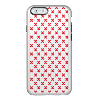 Red Tiny X Patterned Phone Case Incipio Feather® Shine iPhone 6 Case