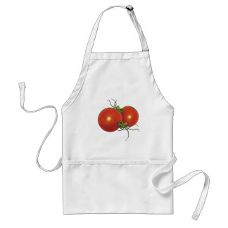 Red Tomatoes: Marker Drawing: Food Standard Apron