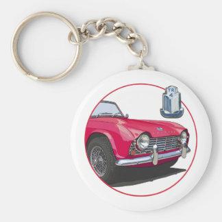 Red TR4 Key Ring