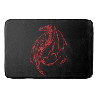 Red Tribal Dragon Bath Mats