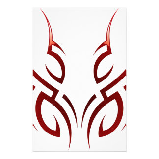 red  tribal tattoo motive stationery