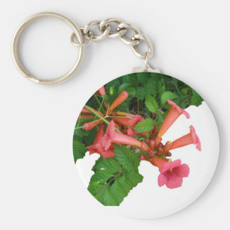 Red Trumpet Vine Key Ring