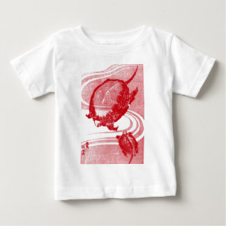 Red Turtles in Swirling Water Baby T-Shirt