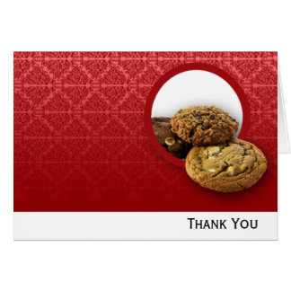 Red Velvet Damask Desserts Business Card