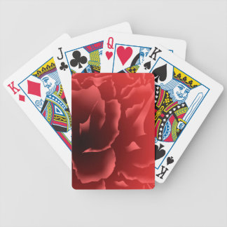 Red Velvet Peony Bicycle Playing Cards