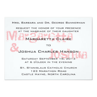 "Red Vintage Brick Graffiti Wedding Invitation 5"" X 7"" Invitation Card"