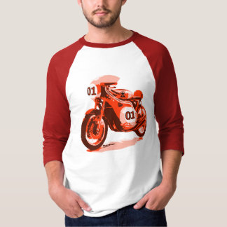 Red Vintage Racing Motorcycle T-Shirt