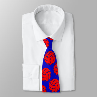 Red Volleyball + Any Team Colour Coach or Player Tie