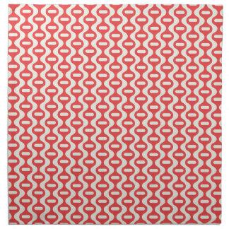 Red Wavy Retro Pattern Napkin