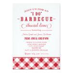 Red Wedding Rehearsal Dinner | I Do BBQ 13 Cm X 18 Cm Invitation Card