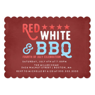 Red White and BBQ | Fourth of July Card