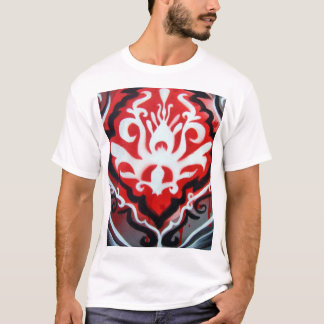 Red White and Black Plume Ladies T T-Shirt